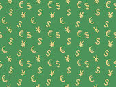 Pattern with currency signs — ストックベクタ
