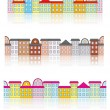 Royalty-Free Stock Vector Image: Buildings with reflection patterns