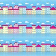 Pattern with buildings — Stock Vector