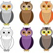 Cartoon owls — Stock Vector #22260627