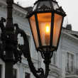Stock Photo: Alight street lamp