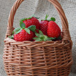 Stock Photo: Strawberry in basket