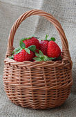 Strawberry in basket — Stock Photo