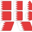 Buttons with flag of Bahrain — Stock Vector #26617819