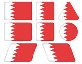 Buttons with flag of Bahrain — Stock Vector