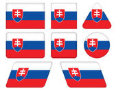 Buttons with flag of Slovakia — Stock Vector