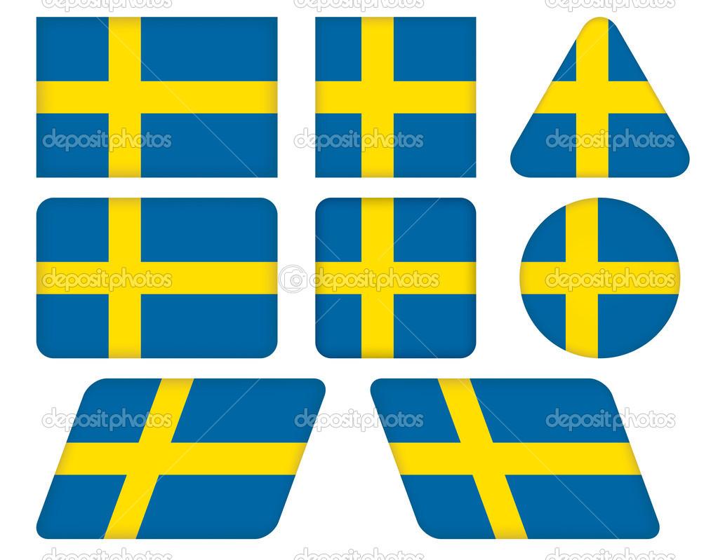 瑞典地图轮廓矢量图