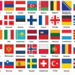Icons with flags of Europe — Stock Vector
