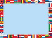 Frame with flags — Stock Vector