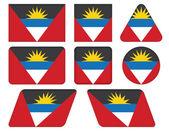 Flag of Antigua and Barbuda — Stock Vector