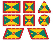 Buttons with flag of Grenada — Stock Vector