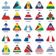 Icons with flags of Americas — Stock Vector
