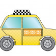 Yellow taxi cab — Stock Vector