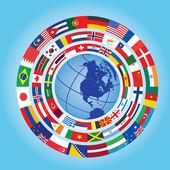 Vlaggen wereldwijd — Stockvector