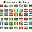African countries flag buttons — Stockvectorbeeld