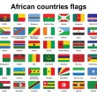 African countries flag buttons — Vettoriali Stock