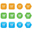 Set of shopping cart icons — Stock Vector