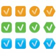 Set of check mark icons — Stock Vector