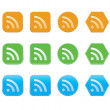 Set of RSS icons — Stock Vector
