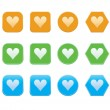 Set of heart icons — Stock Vector