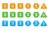 Set of dollar icons — Stock Vector