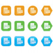 Set of PDF icons — Stock Vector