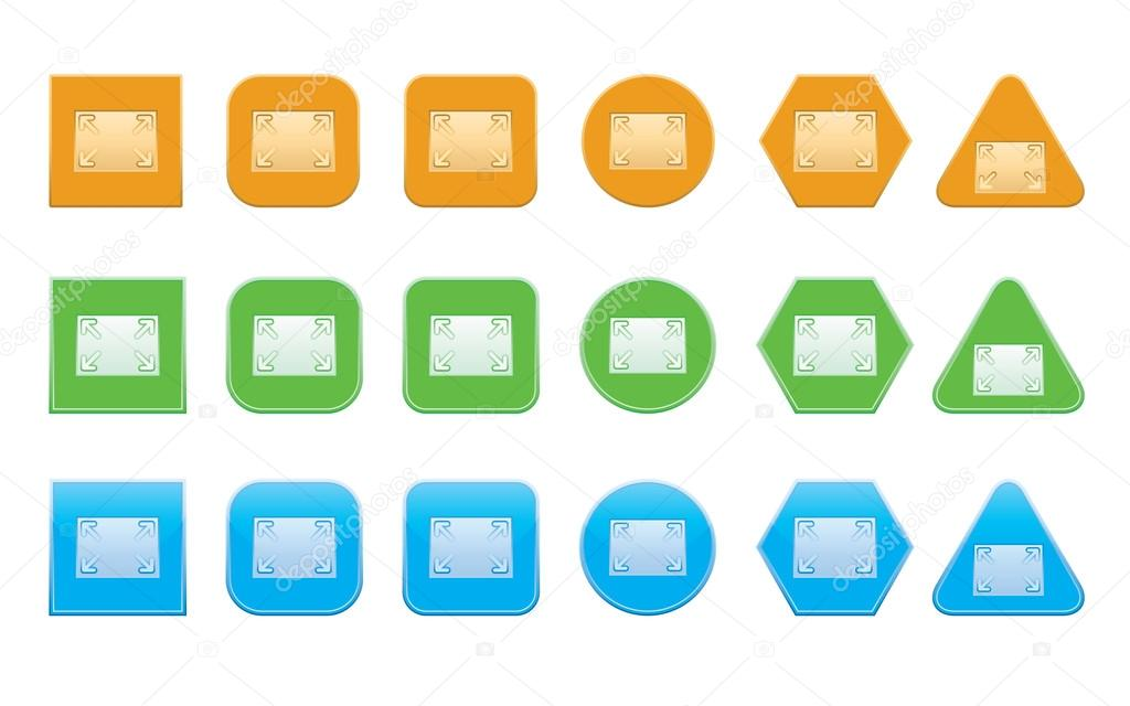 Full Screen Icon Vector Set of Full Screen Icons of