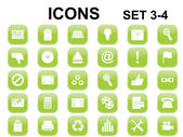 Green rounded square icons — Stock Vector