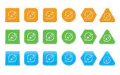 Set of sale icons — Vector de stock