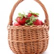 Stock Photo: Basket with strawberries