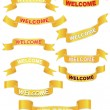 Set of welcome banners — Stock Vector