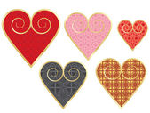 Set of vintage valentines — Stock Vector