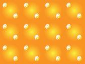 Pattern with yin yang symbols — Stock Vector