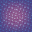 Blue seamless snowflakes pattern — Stock Vector