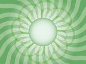 Fondo verde rayos abstracto — Vector de stock