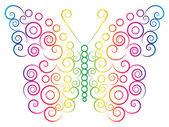 Rainbow color butterfly — Stock Vector