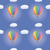 Pattern with hot air balloons — Stock Vector