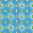 Blue seamless Christmas pattern — Stock Vector #31929299