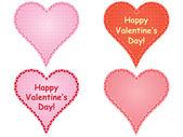 Set of valentines — Stock Vector