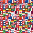 Pattern made of flag icons — Stock Photo
