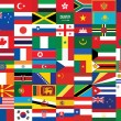 Background with some of world flags — Stock Vector