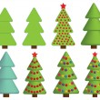Christmas tree icons — Stock Vector #32581727
