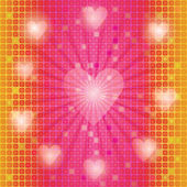 Mosaic background with valentines — Stock Photo