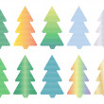 Mosaic Christmas tree icons — Stock Vector #33104729