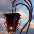 Stock Photo: Lantern over cloudy sky