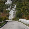 Turn of road in mountains — 图库照片