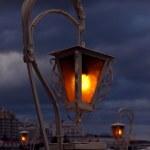 Lantern over cloudy sky — Stock Photo