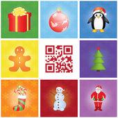 Merry christmas patroon — Stockvector
