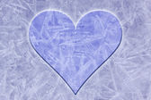 Ice background with heart — ストック写真