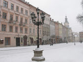 Lviv at winter — Stock Photo